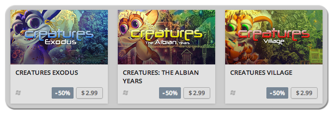 A Selection of Creatures Titles on Sale