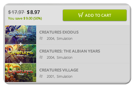 Winter Savings on the Creatures Games