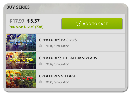 Creatures Savings at GOG