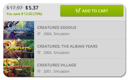Buy and Download the Original Creatures Games
