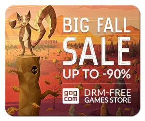 GOG Big Fall Sale on DRM Free Games