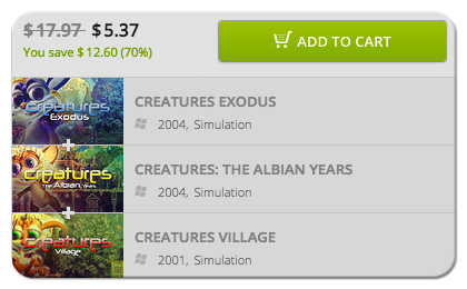 All of the Creatures Games on GOG for Sale