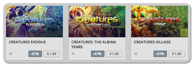 The November 2016 GOG Sale on the Creatures Games